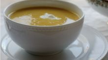 This apple and butternut squash soup is the best of fall all in one bowl