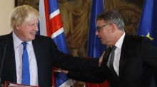 The Latest: Brexit: UK envoy says money linked to trade deal