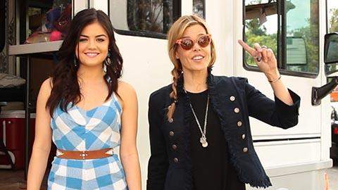 Lucy Hale With Seventeen Stylist Mary Alice