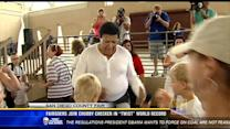 "Fairgoers join Chubby Checker in ""twist"" world record"