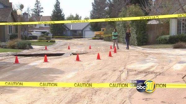 A Fresno neighborhood is coping with no running water