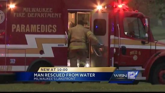 Water rescue on Lake Michigan