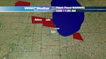Flash Flood Warning in effect for Lake, McHenry and Northern Cook Counties