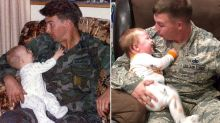 Military Dad Recreates Heartwarming Father-Son Photo 30 Years Later