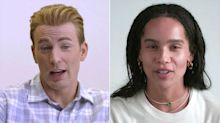 Chris Evans and Zoë Kravitz Reveal Their 'First Times' for a Good Cause — to Get People to Vote!