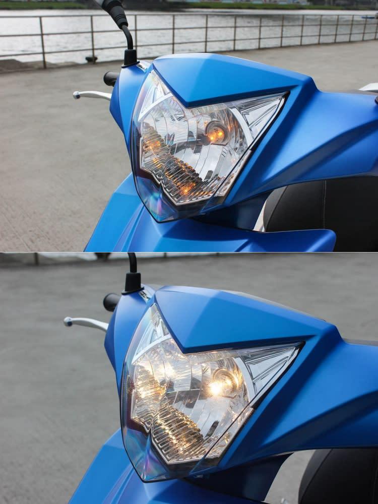 熄火時也會將照明亮度降低,減少電瓶負擔。