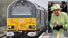 The Queen arrives in Somerset on the royal train