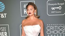 Chrissy Teigen scolded by bartender for helping herself at the Critics' Choice Awards
