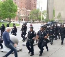 Buffalo police riot squad quit to back officers who shoved man