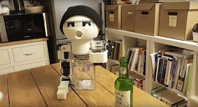Drinky the robot is the perfect companion for lonely drunks