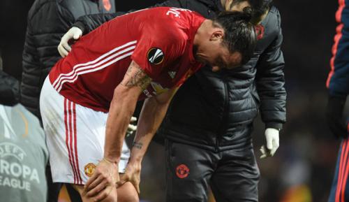 Europa League: Ibrahimovic am Knie verletzt: Shaw gibt Entwarnung