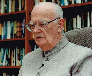 Science-fiction author Arthur C. Clarke.