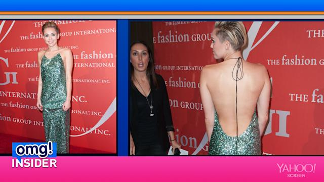 Miley Shocks Us With Her Red-Carpet Look (But Not for the Reason You'd Expect)
