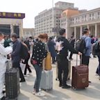 Travelers Flock to Hankou Railway Station to Leave Wuhan as Lockdown Lifted