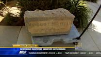 Mysterious gravestone unearthed in Escondido