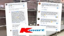 'No stock': Kmart shelves still 'empty' despite re-stock promise