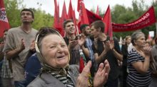 Russians protest retirement age rise, in challenge for Putin