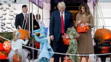Little girl meets Melania Trump dressed in the First Lady's controversial Hurricane Harvey look