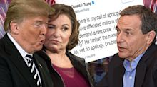 Trump twists facts while sounding off on Roseanne, Russia and the media