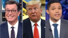 Colbert, Noah Mock 'World's Worst Dad' Trump For Seemingly Forgetting His Son