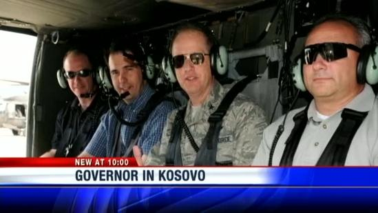 Governor takes trip to Kosovo to visit state troops
