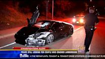 Police still looking for couple who crashed Lamborghini