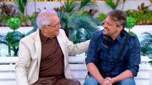 Após infarto, filho de Carlos Alberto de Nóbrega volta para a TV e comemora retorno com o pai
