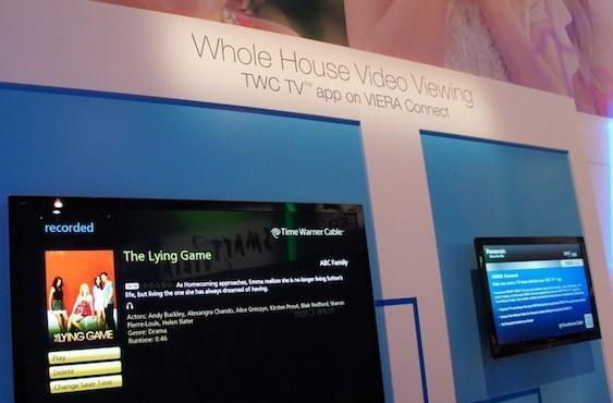 Panasonic HDTVs show off Time Warner Cable IPTV app with live streaming channels, DVR access
