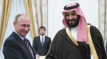 MARKETS: Putin and Saudi Prince Mohammed talk crude oil over a World Cup soccer game