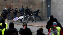 French interior minister blames protest violence on 'thugs'