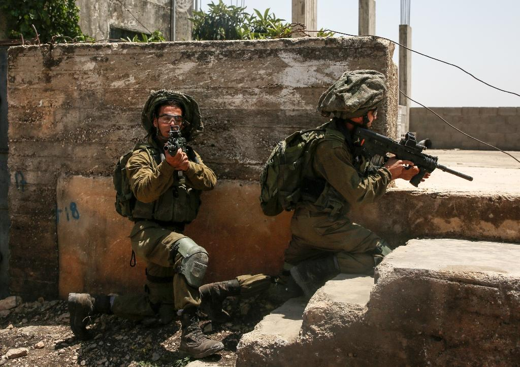 Israeli soldiers near Nablus in the occupied West Bank, on June 8, 2018