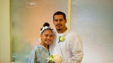 Couple weds in hospital hallway two hours before baby's premature birth: 'It was like a movie'