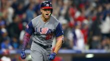 Giancarlo Stanton hit one of the hardest home runs recorded in Team USA's win