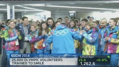 Olympic volunteers trained to smile