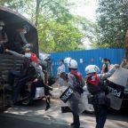 Myanmar envoy appeals to U.N. to stop coup as police break up protests