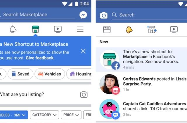 Facebook's app will personalize navigation to fit your social habit
