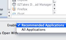 TUAW Tip: Freshening Up 'Recommended Applications'