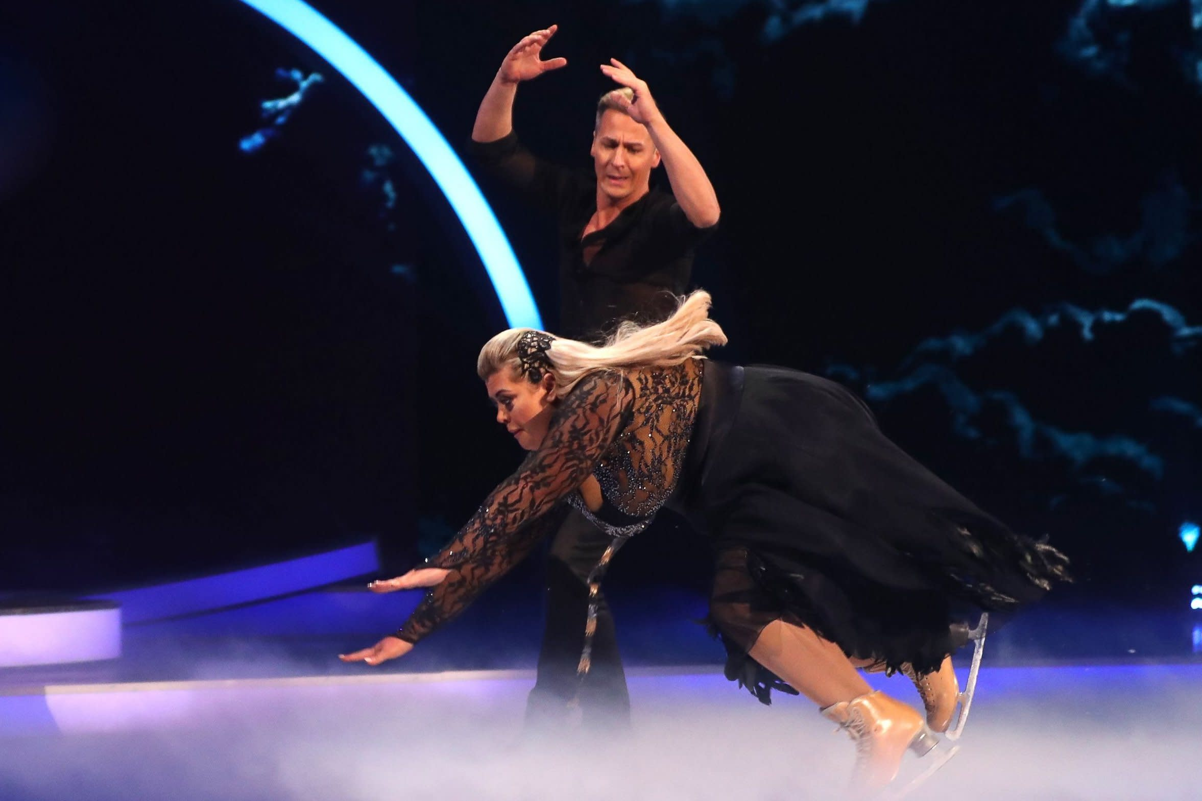 Gemma Collins denies faking Dancing on Ice fall