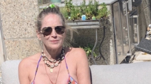 Sharon Stone, 62, hits the pool in a bikini for Memorial Day weekend: 'Stay safe'