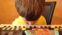 Talented Kid Plays Keyboard With Nose
