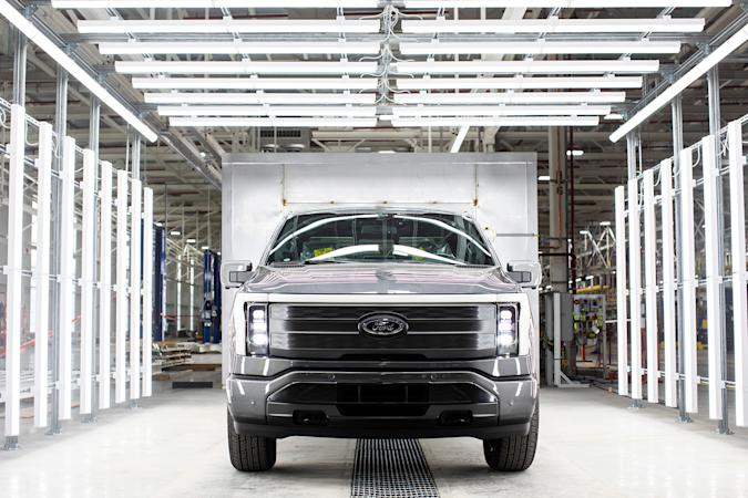 Ford F-150 Lightning at Rouge Electric Vehicle Center