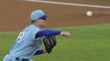 Rangers' Kluber lasts 1 inning in 1st start in 15 months