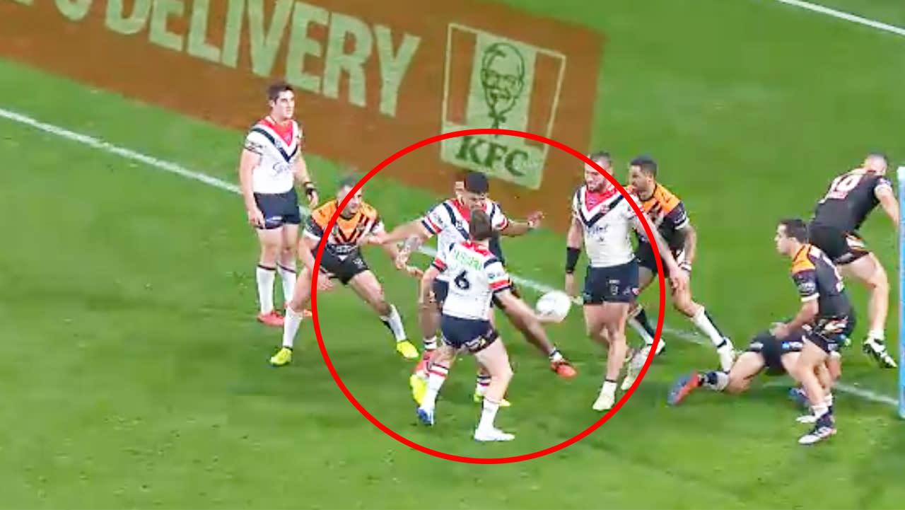 'Greatest pass I've ever seen': Luke Keary's 'hand grenade' assist stuns Tigers
