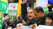 Hundreds protest India's treatment of Kashmir in London