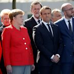 Macron looks on awkwardly as Donald Trump attacks Nato members after moment of silence for Manchester
