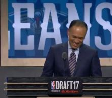The NBA deputy commissioner had a great reaction when he kept getting scooped on draft picks by fans