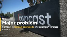 Comcast is leaking the names and passwords of customers' wireless routers