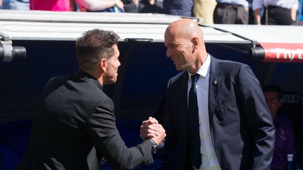 Zidane's Atleti woes continue in 50th Madrid Liga clash