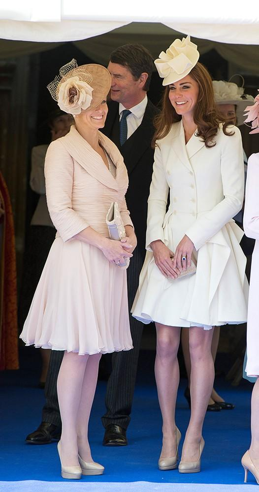 Time for the Order of the Garter, and while most members of the royal family were in pale hues, Kate's Alexander McQueen stole the show.