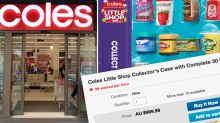 The eye-watering prices Coles' free collectables are selling for online